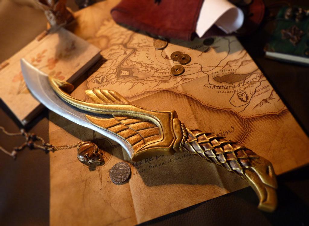 Dague elfique - inspiration Skyrim