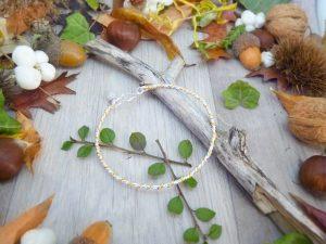Bracelet « Katja » - inspiration celtique et païenne - Bijou de Créateur en Wire Wrapping, perle quartz