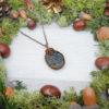 Collier Wire wrapping - Bijou de Créateur unique en Wire Wrapping, inspiration celtique et païenne - Collier « Le Rocher coruscant » en oeil de tigre