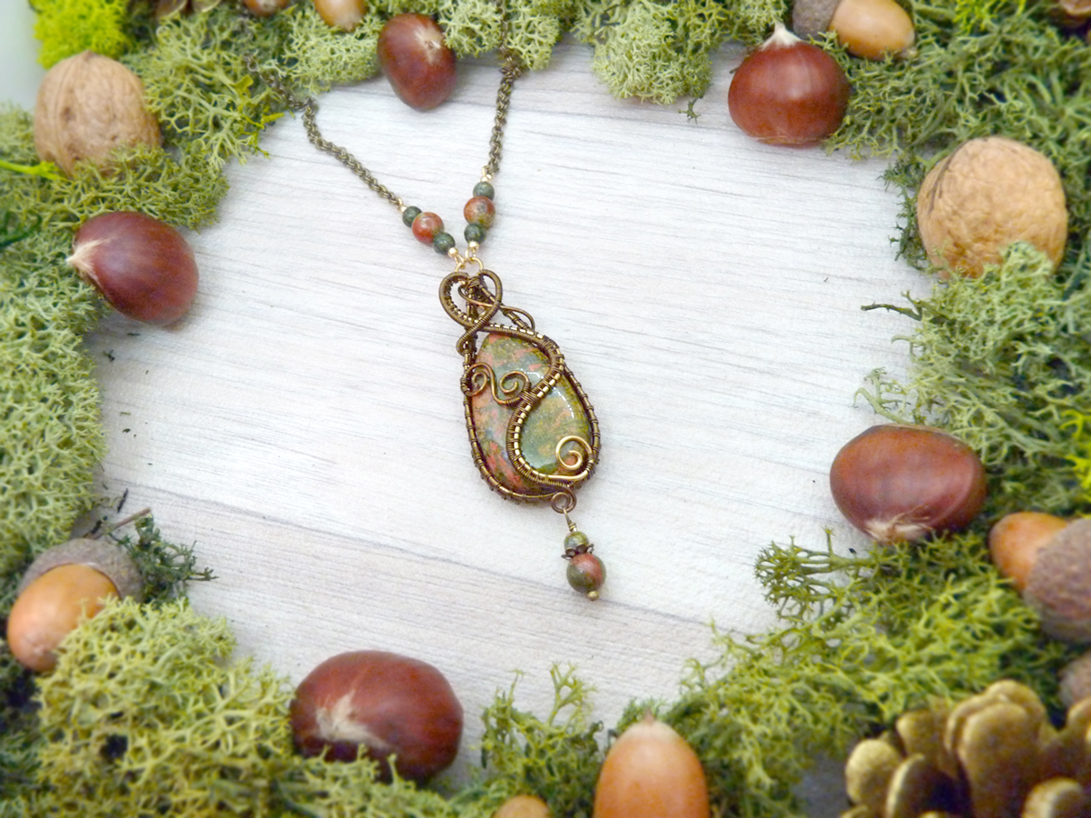 "Collier réversible ""Le Sentier forestier"""