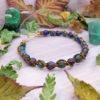 Bracelet « Mythe de la tempête » - inspiration celtique et païenne - Bijou de Créateur en Wire Wrapping, perles lapis et chrysocolle