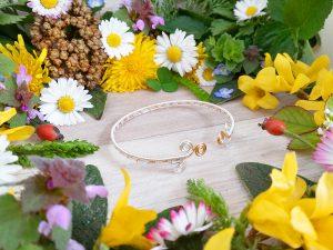 Bracelet unique « Tressage antique – Abhain » - inspiration celtique et païenne - Bijou de Créateur en Wire Wrapping