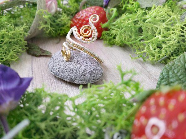 """Bague Wire wrapping - Bijou de Créateur en Wire Wrapping, inspiration celtique et païenne - Bague """"Tressage Ancestral Alios"""""""