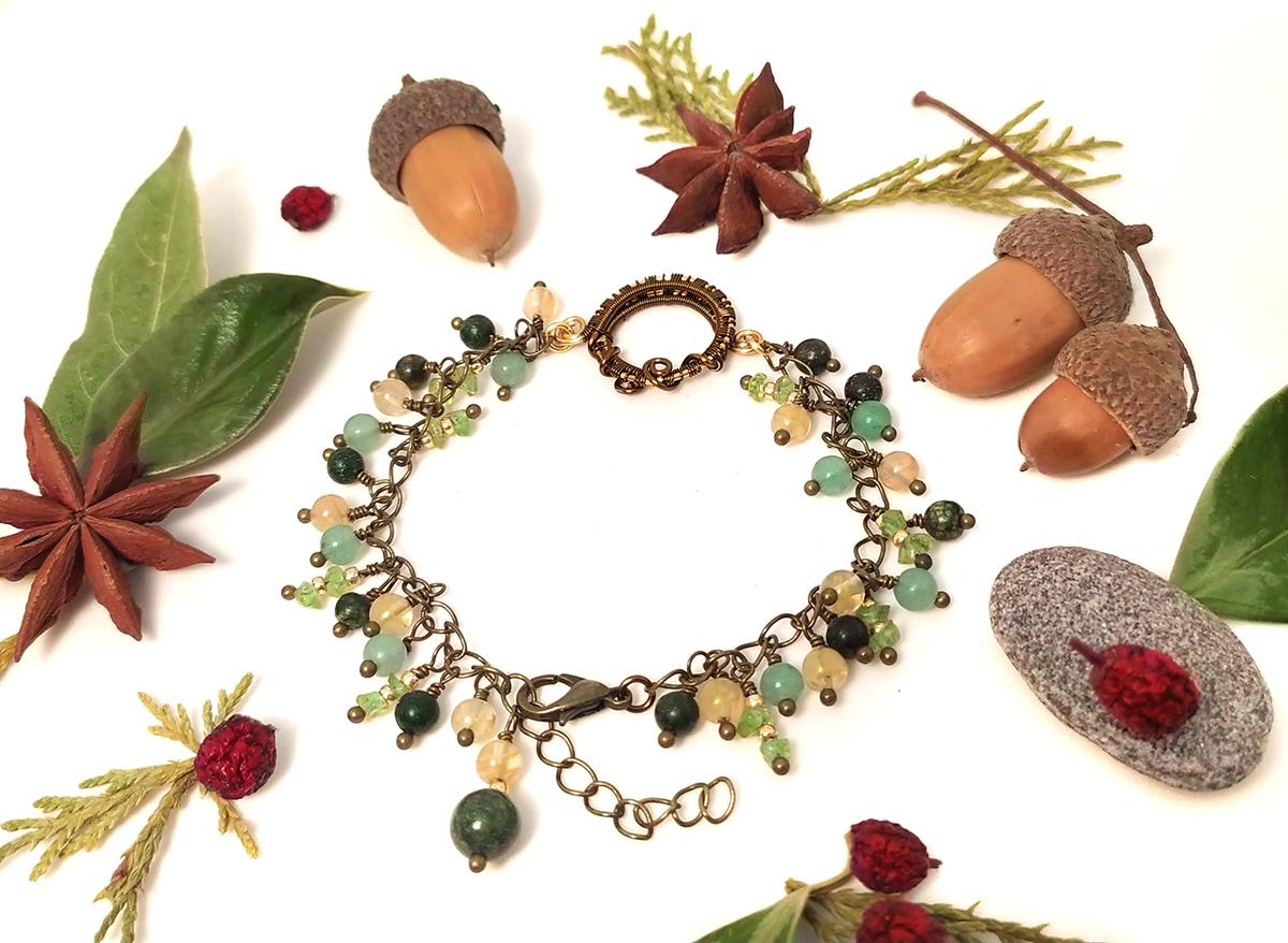 """Bracelet ajustable """"Sommeil de la Forêt"""""""