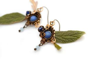 Boucles d'oreilles «Étoile bleue»